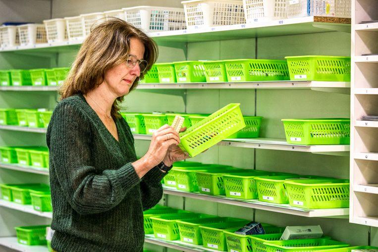 Apotheker Sonja Keizers in Den Haag. Beeld Raymond Rutting