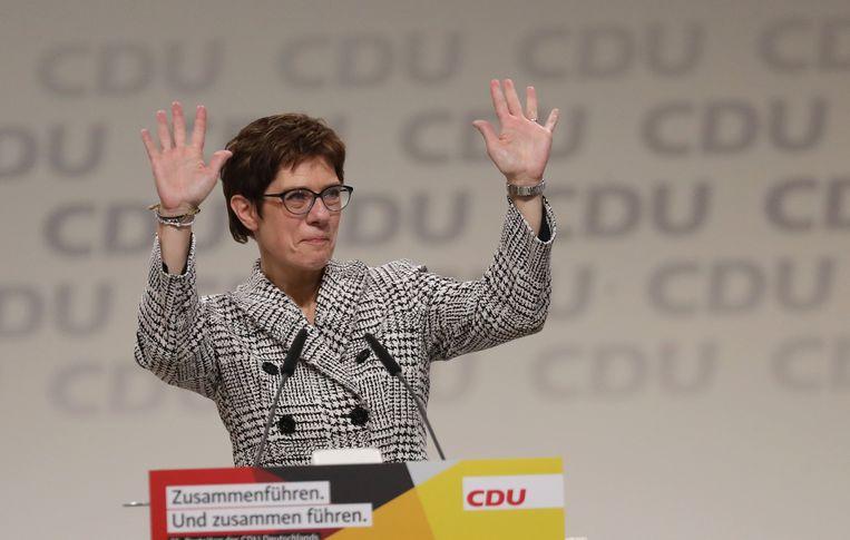 Annegret Kramp-Karrenbauer is de nieuwe partijleider van de CDU.