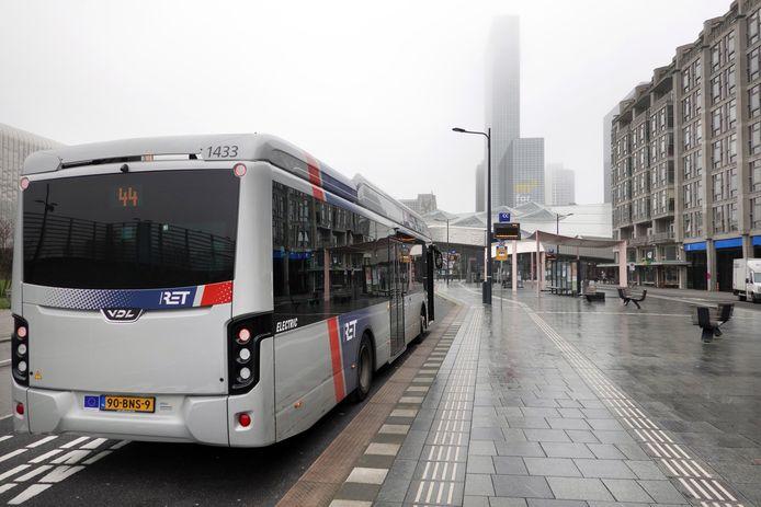 Een RET-bus in Rotterdam.