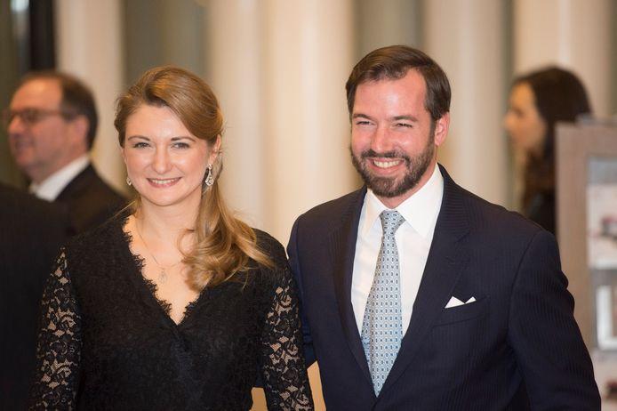 Le prince Guillaume et son épouse la Comtesse belge Stephanie de Lannoy en 2016