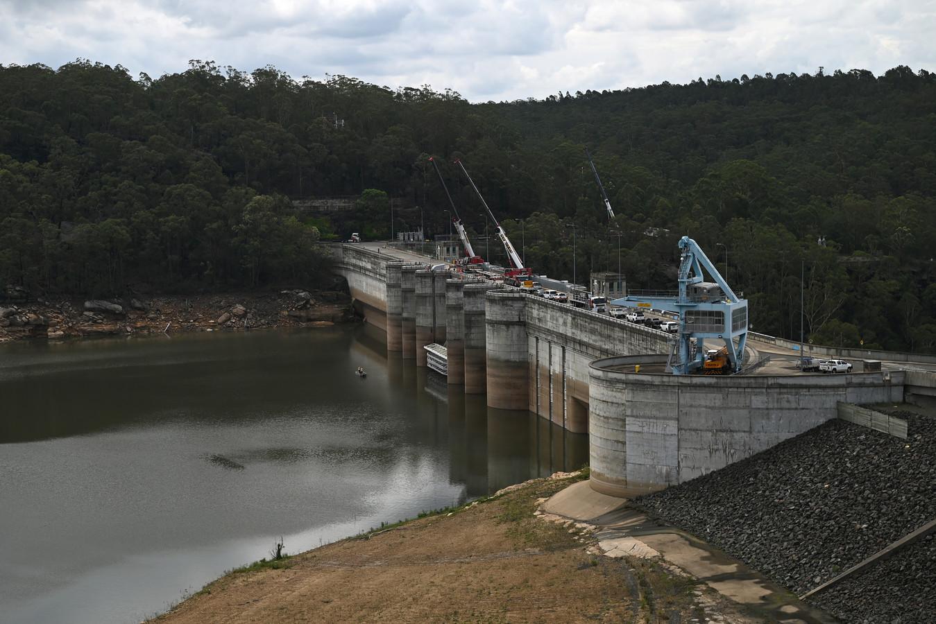 Het waterniveau bij de Warragamba Dam in Sydney is in een weekend met meer dan twintig procent gestegen.