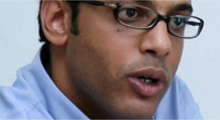 Hossam Baghat, de Egyptische mensenrechtenactivist en onderzoeksjournalist Beeld Screenshot