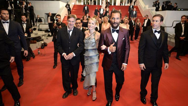 Vanaf links: Gus Van Sant, Naomi Watts en Matthew McConaughey. Beeld EPA