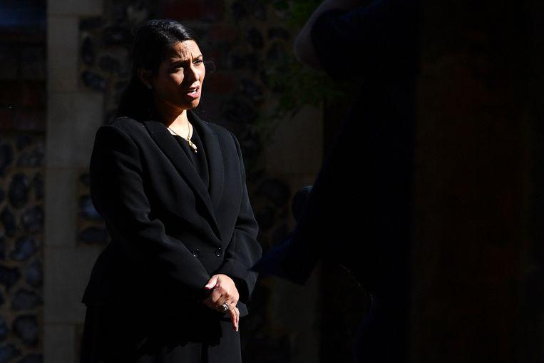 De Britse minister van Binnenlandse Zaken Priti Patel: mogelijk een lockdown voor Leicester. Beeld Hollandse Hoogte / AFP