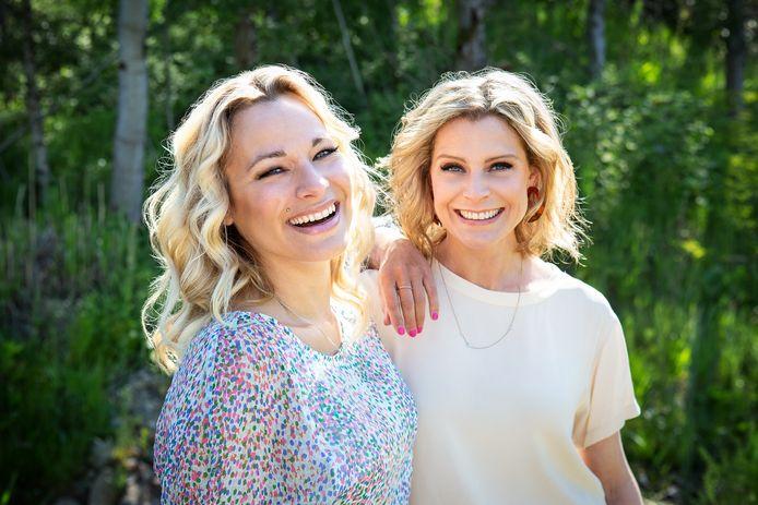 Presentatrices An Lemmens en Dina Tersago.