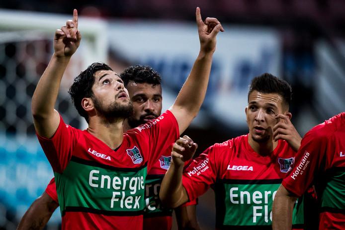Nu prijkt nog de naam Energieflex op het shirt van Anass Achahbar en andere NEC-spelers. De vraag is voor hoe lang nog.