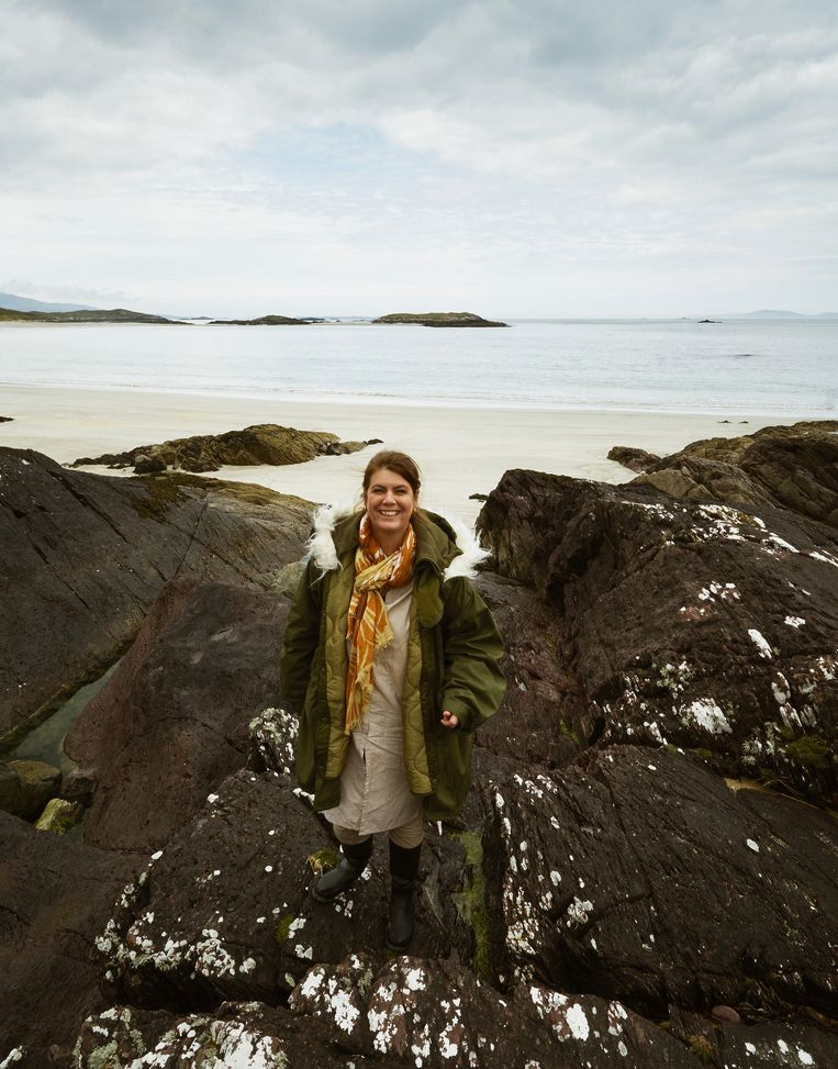 Yvette van Boven bij het Killary-fjord. Beeld Oof Verschuren