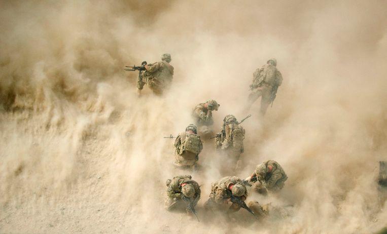 Amerikaanse soldaten in Afghanistan. Beeld AFP