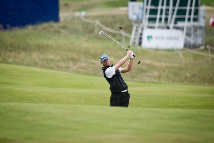 Jurrian van der Vaart eerder in actie tijdens de KLM Open.