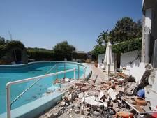'Illegaal gebouwde huizen storten in na lichte aardbeving Ischia'