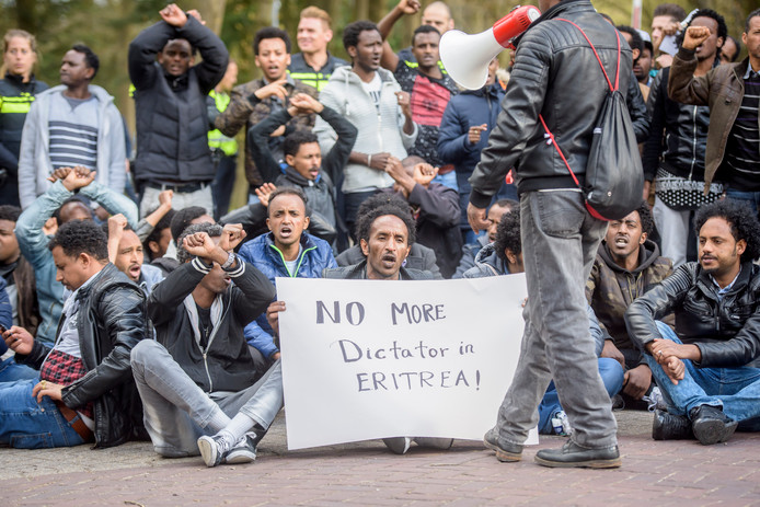 Demonstratie Eritrea Koningshof