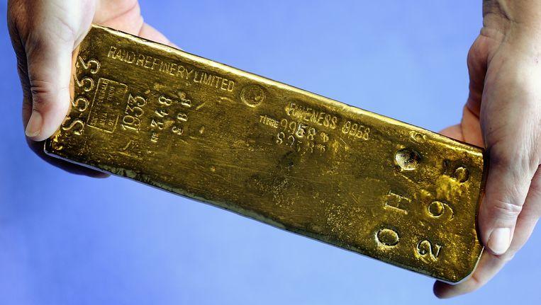 Deze goudstaaf komt uit de kluis van De Nederlandsche Bank Beeld anp