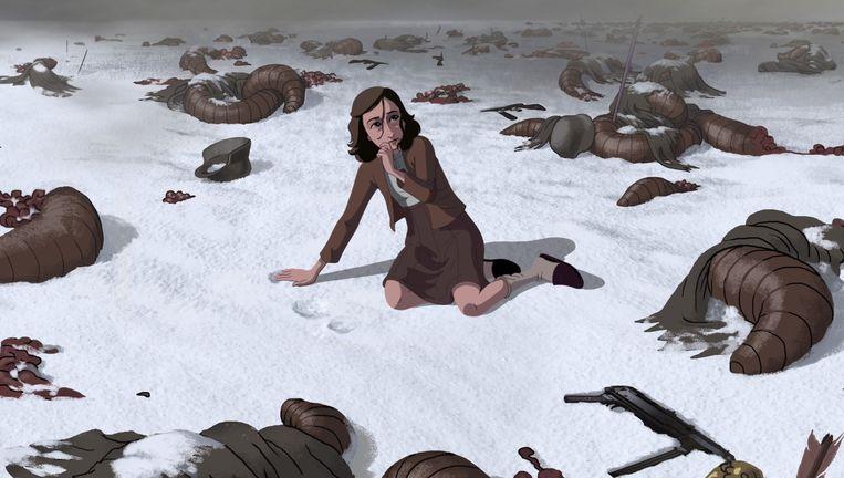 Een screenshot van de animatiefilm over Anne Frank. Beeld cinemascope