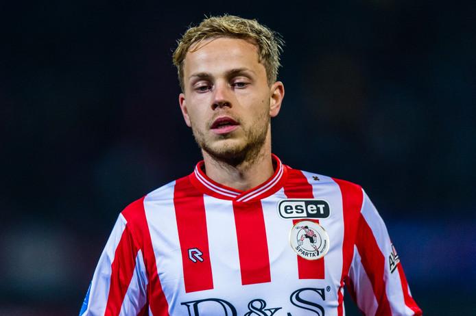 PSV-huurling Dante Rigo in het shirt van Sparta.