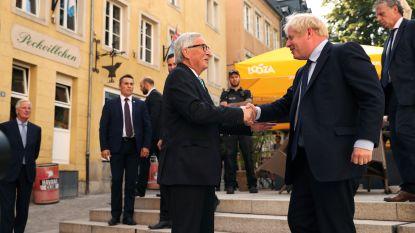 Johnson en Juncker voor het eerst rond de tafel, maar levert niets op
