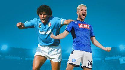 """Mertens stak hem de loef af, maar Maradona is vol lof: """"Dries is geboren als spits, alleen wist hij dat zelf niet"""""""