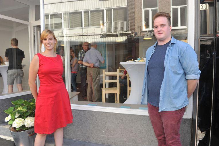 Ontwerpers Hanna (22) en Elias (22) voor Studio Wolk.