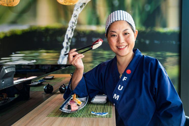 Kokkin Fumi Atsumi van Sushi Lounge in Genk.