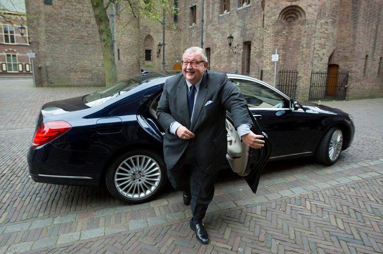 VVD-partijvoorzitter Henry Keizer arriveert bij het Ministerie van Algemene Zaken voor overleg. Beeld anp