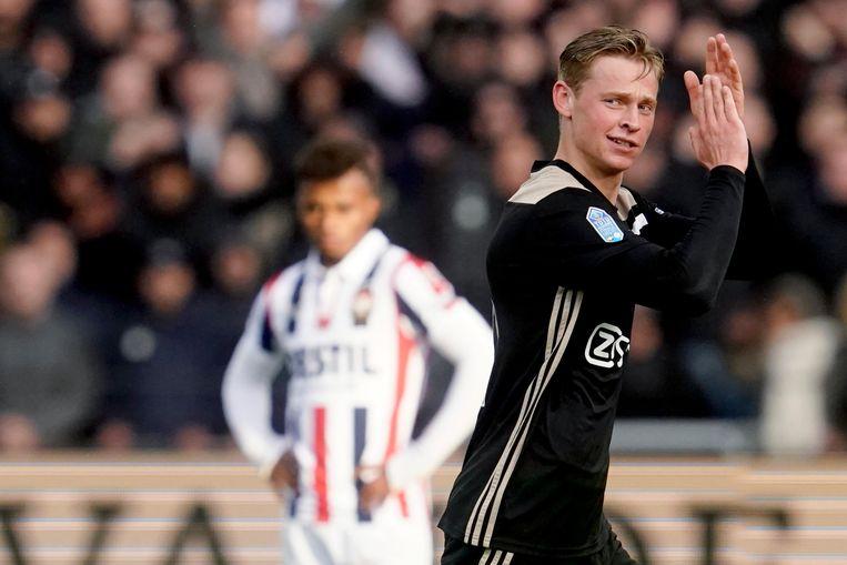 Frenkie de Jong in de wedstrijd tegen zijn voormalige club Willem II.  Beeld BSR Agency