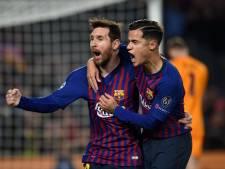 Messi gidst Barça tegen pover ManUnited naar halve finales