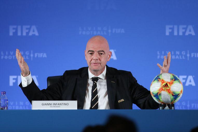 Fifa-president Gianni Infantino. Beeld BSR Agency