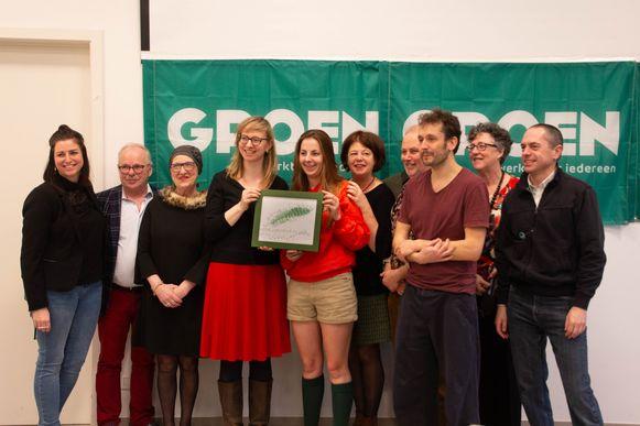 De winnaars van de Groene Pluim in Evergem.