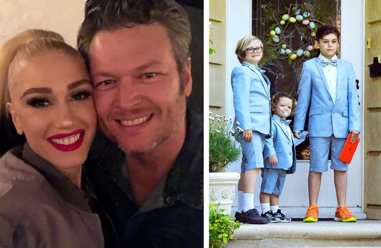 Gwen Stefani en haar huidige partner Blake Shelton. Stefani kreeg samen met haar ex Gavin Rossdale drie kinderen: Kingston, Zuma Nesta en Apollo.