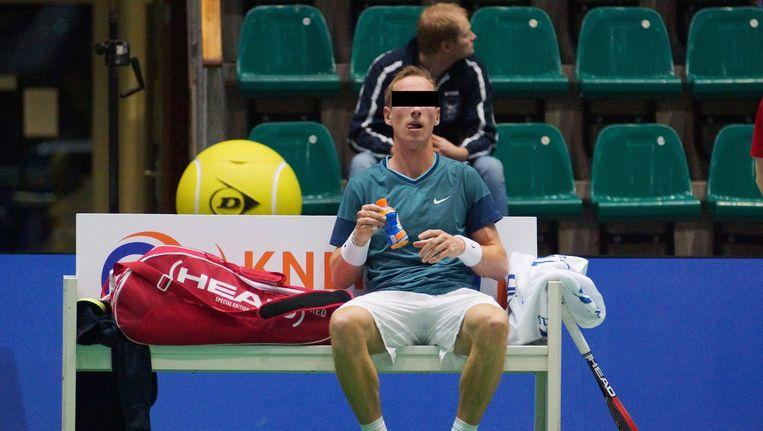 Mark de J. in 2014, in actie tijdens het NK tennis. Beeld anp