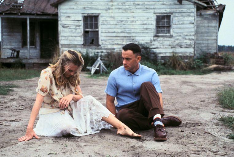 Robin Wright en Tom Hanks in Forrest Gump (Robert Zemeckis, 1994). Beeld Imageselect