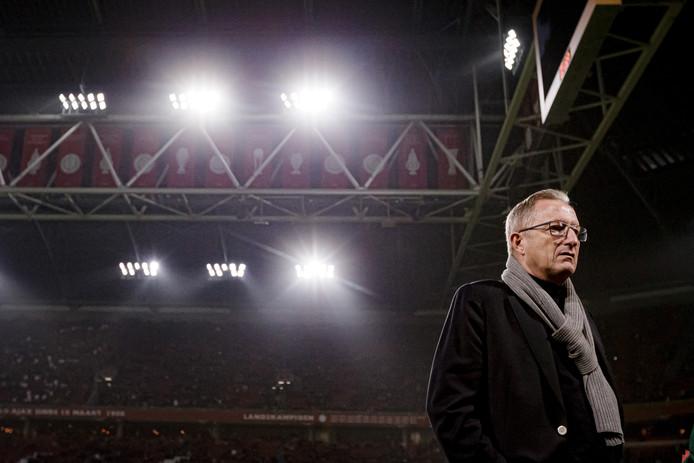 Spakenbugr-coach Eric Meijers tijdens het duel met Ajax.