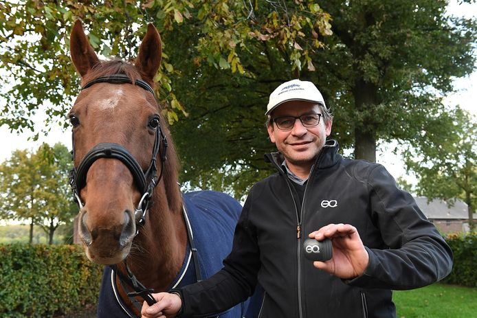Leon Rutten heeft een bewegingssensor ontwikkeld die de bewegingen van een paard tijdens de dressuur, het springen, of cross-country vastgelegd.