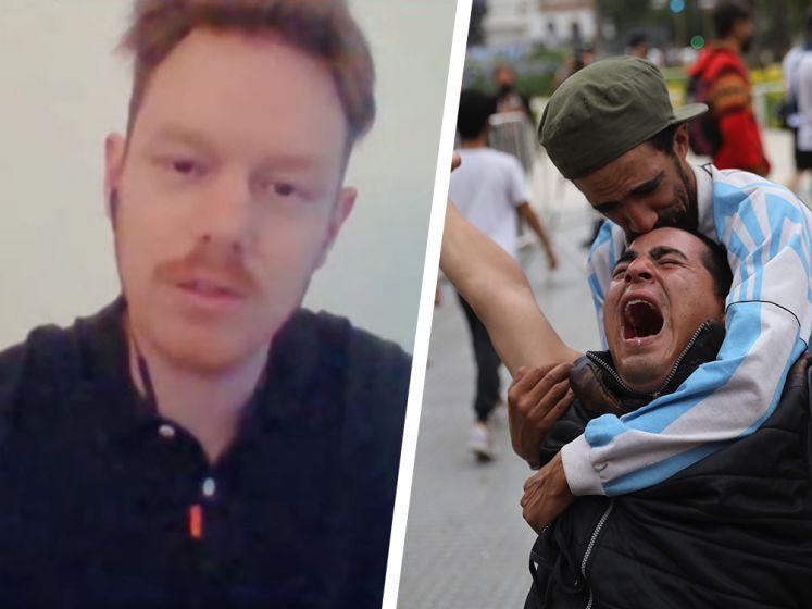 """Onze collega in Argentinië schetst rouw: """"Tv-presentator moest tranen bedwingen"""""""
