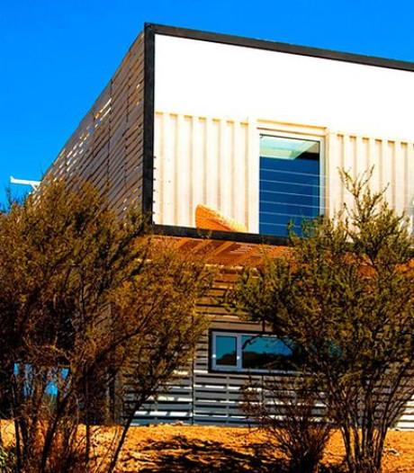 Dit vrijstaande huis in Chili is gemaakt van zeecontainers