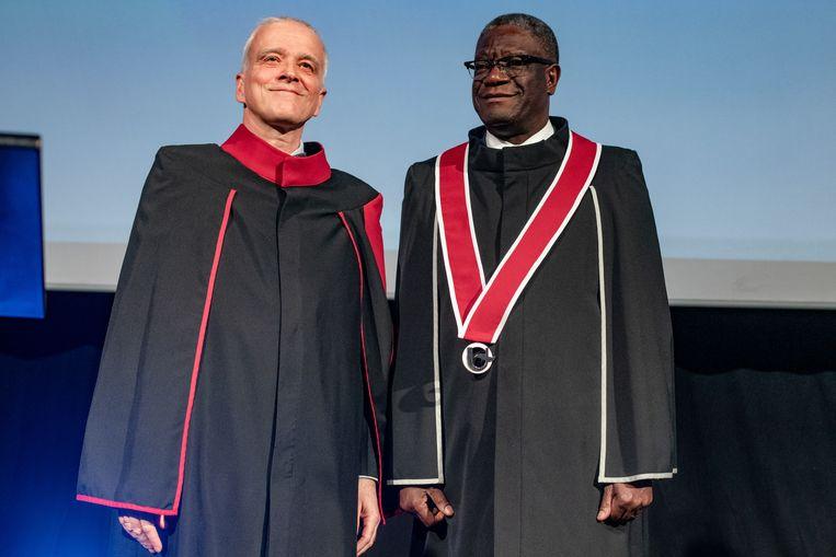 UA-rector Herman Van Goethem en dr. Denis Mukwege.