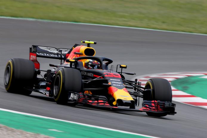 Max Verstappen tijdens de GP van Spanje