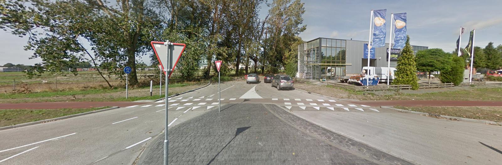De oude situatie op de Borchwerf. Street View Google