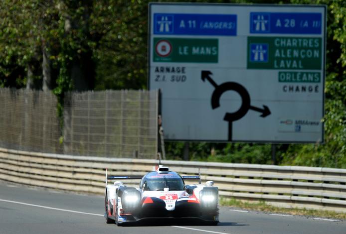 Sebastien Buemi tijdens de testdag van de 87ste editie van de 24 uur van Le Mans.