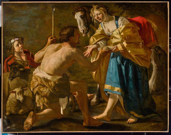 Granida en Daifilo van de Utrechtse caravaggist Dirck van Baburen, aangekocht door het  Centraal Museum.
