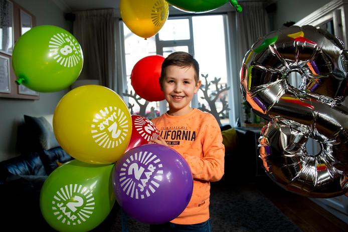 Pelle Kolkman wordt vandaag acht jaar, maar viert eigenlijk zijn tweede verjaardag.