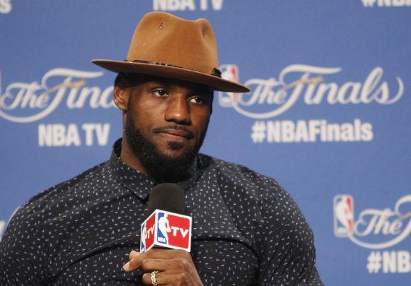 LeBron James op de persconferentie achteraf.