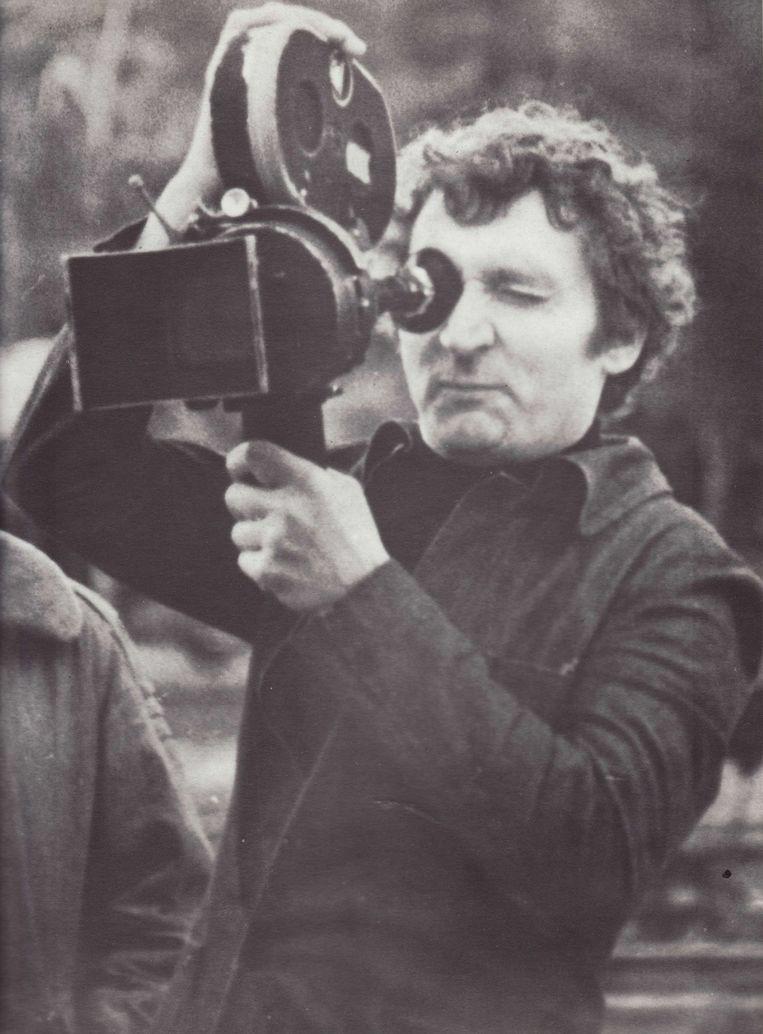PDe Pools-Franse filmmaker Walerian Borowczyk (1923-2006) aan het werk Beeld null