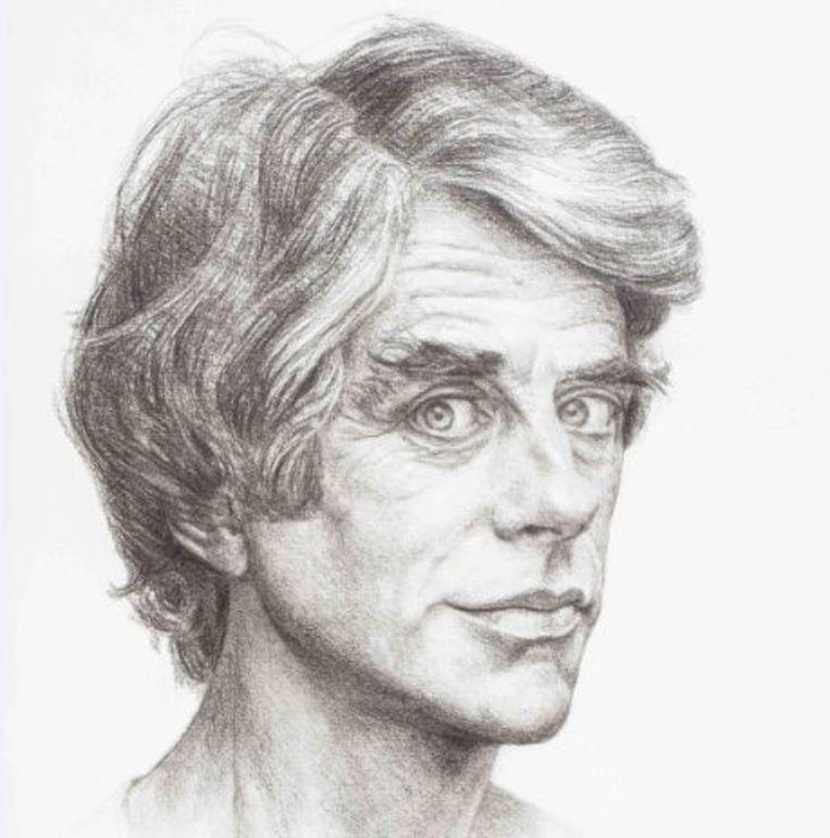 Zelfportret uit 1977. Beeld Herman Gordijn