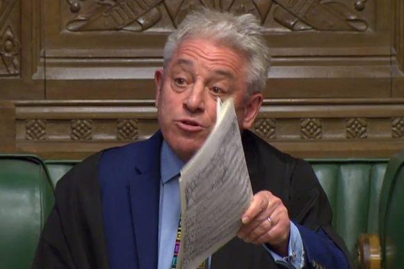 John Bercow, de speaker van het Britse Lagerhuis.