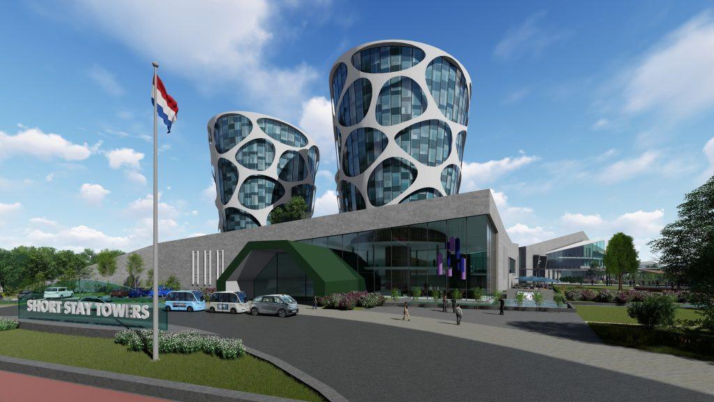 Een impressie van de campus zoals Lithium Werks die op Technobase Twente had willen bouwen.