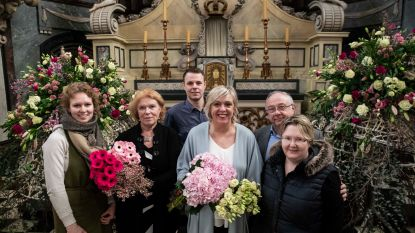Belgische floristen zetten minderbroeders vlak vóór vertrek in de bloemetjes