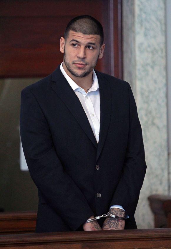 Aaron Hernandez in de rechtbank van Massachusetts.