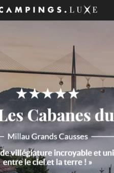 Un camping de luxe suspendu au viaduc de Millau: l'improbable canular
