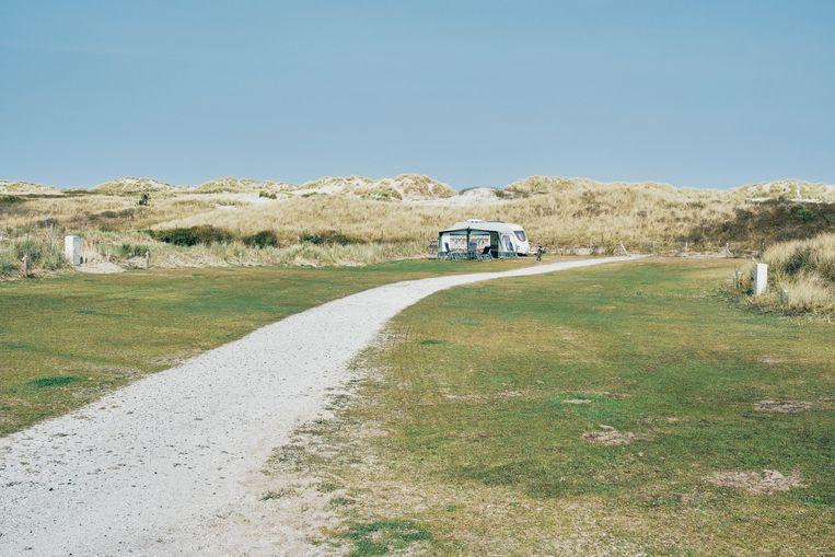 Een vrijwel lege camping Duinoord bij Nes, Ameland. Beeld Sjaak Verboom