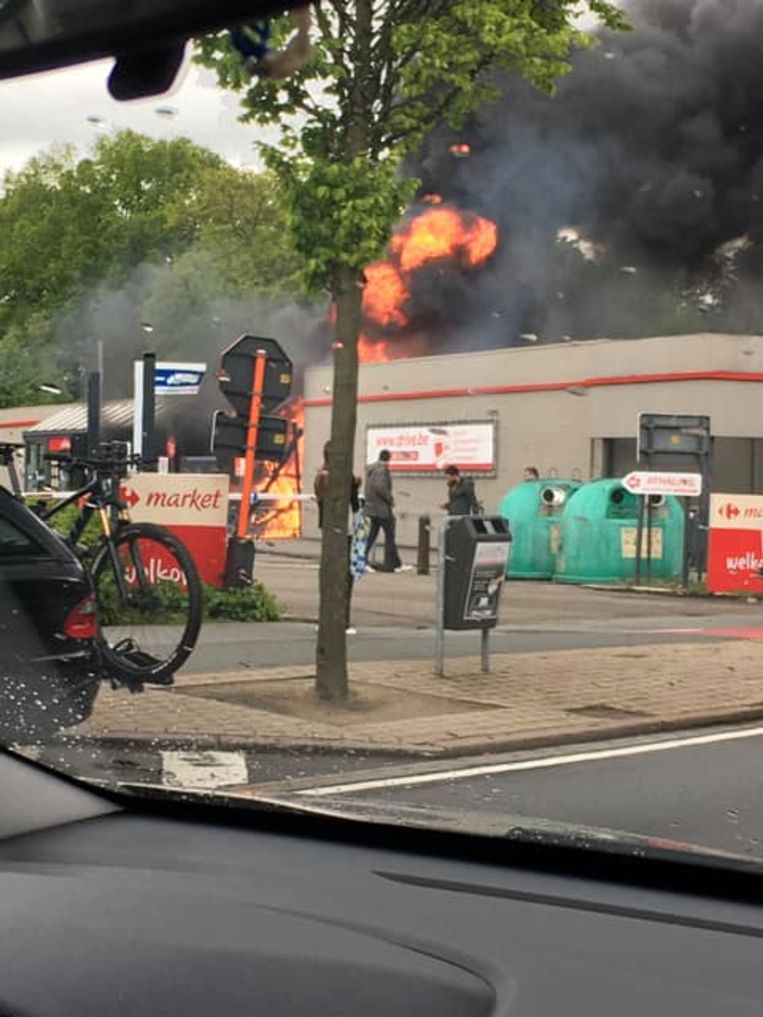 De brand was even hevig.